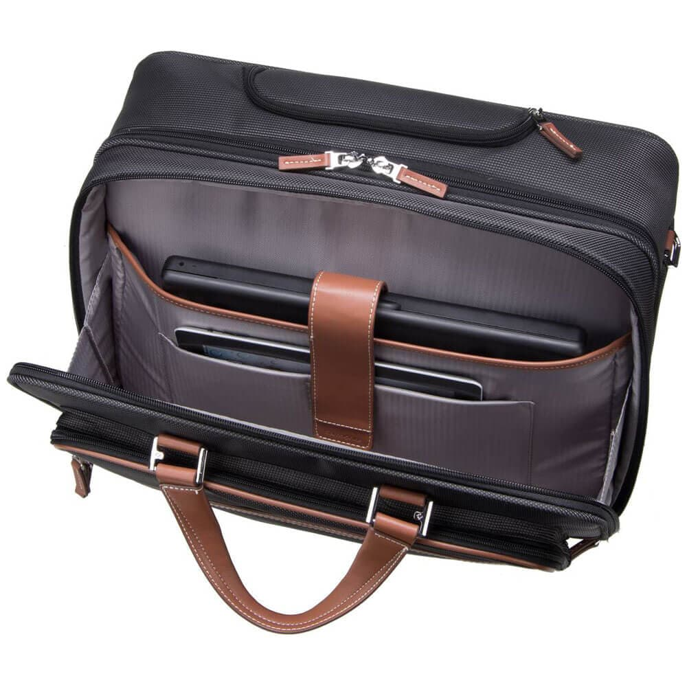 Кейс на колёсах Samsonite Fairbrook Rolling Laptop Bag 15,6″ 54N-29005 29 Black/Cognac - фото №3