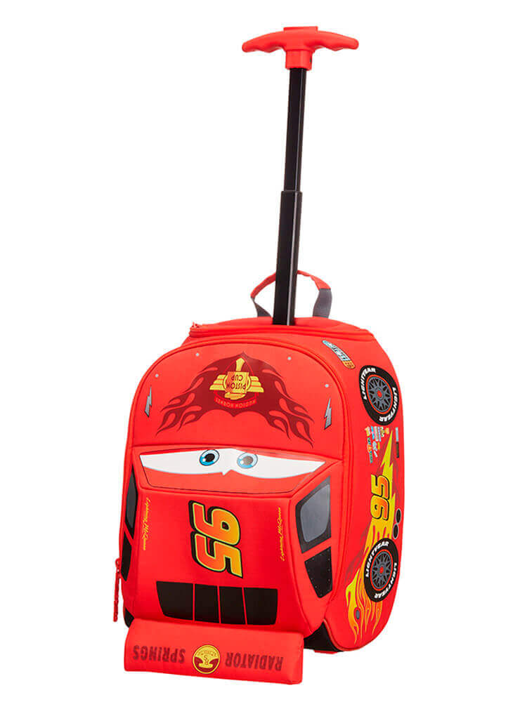 Детская сумка на колёсах Samsonite 23C*012 Disney Ultimate School Trolley 23C-00012  00 Cars Classic - фото №3