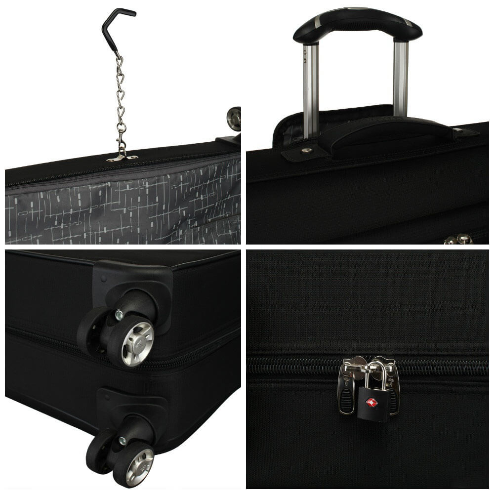 Портплед на колёсах Ricardo 069-42*4RG Mar Vista Garment Bag 069-42-001-4RG 001 Black - фото №5