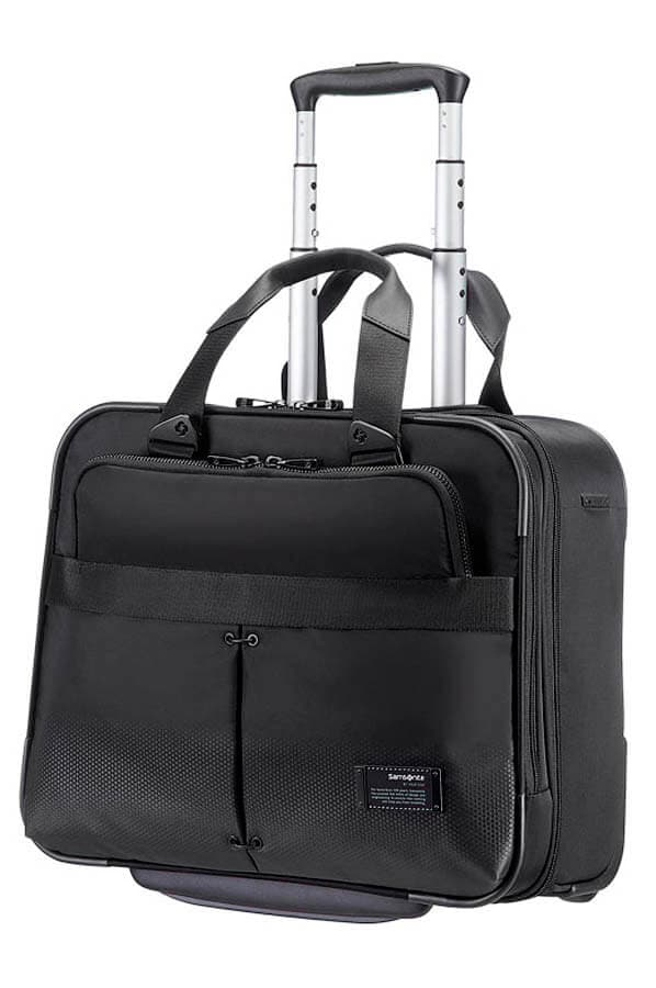Кейс-пилот на колёсах Samsonite 42V*008 Cityvibe Rolling Laptop Bag 16″ 42V-09008 09 Jet Black - фото №1