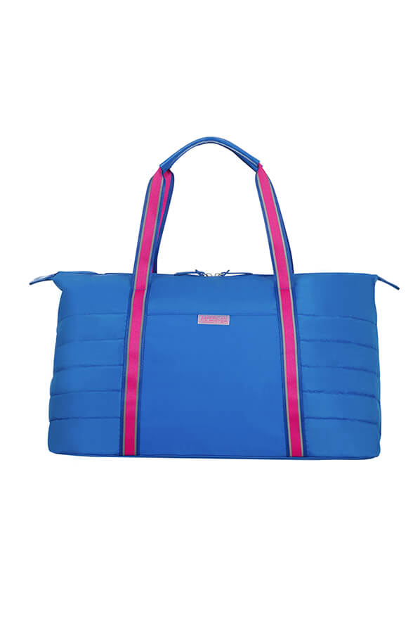 Женская сумка American Tourister 64G*004 Uptown Vibes Weekend Bag 64G-11004 11 Blue/Pink - фото №4