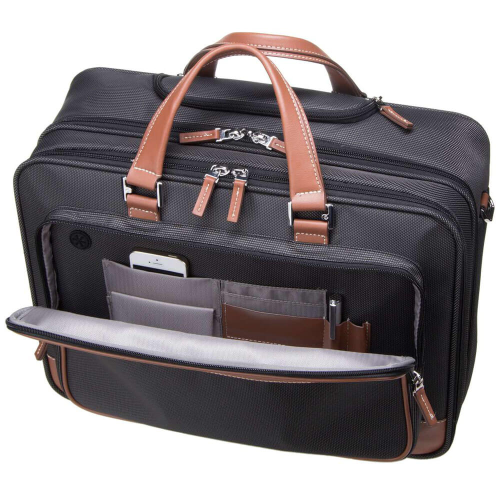 Кейс на колёсах Samsonite Fairbrook Rolling Laptop Bag 15,6″ 54N-29005 29 Black/Cognac - фото №2