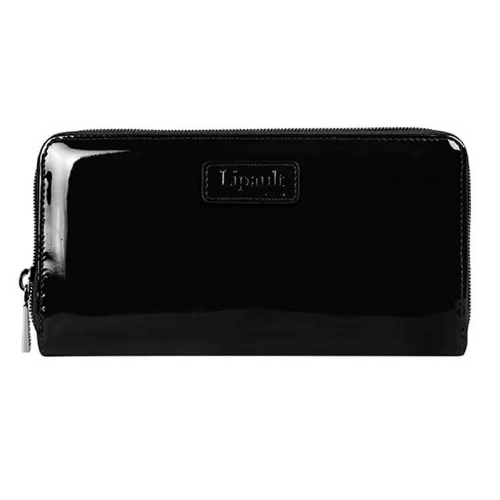 Женское портмоне Lipault P57*027 Plume Vinyl Zip Around Wallet P57-01027 01 Black - фото №1