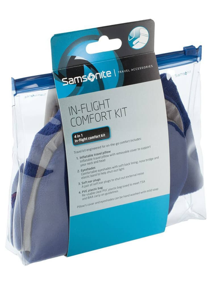 Дорожный набор Samsonite U23*408 Travel In-Flight Comfort Kit U23-11408 11 Indigo Blue - фото №7