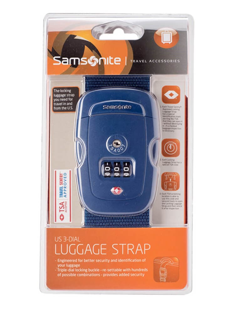 Багажный ремень Samsonite Safe US 3 Combi Luggage Strap 2 TSA U23-11009 11 Indigo Blue - фото №4